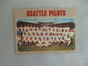 1970 Topps SEATTLE  PILOTS Baseball Team Card(Card #713-Short Print High Number)