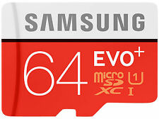 Samsung 64 GB MICRO SD XC MicroSDXC Karte EVO+ Class 10 UHS-1 Ultra High Speed