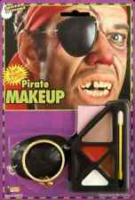 Pirate Makeup Kit Eye Patch Earring Included Halloween Costume Accessory