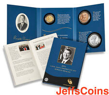 2016 S W Ronald Reagan President Coin & Chronicles Set Reverse 16PA Silver Eagle