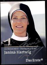 Janina Hartwig  Um Himmels Willen Autogrammkarte Original Sign## BC 4535