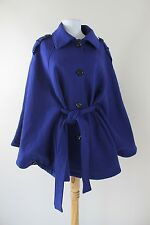 Womens Kenneth Cole Reaction Swing Coat Purple Poncho Sleeve Size Large L 12 14