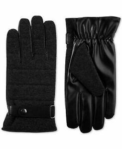 Isotoner Mens Winter Gloves Black Size XL Faux Wool smarTouch Accessory $58 #421