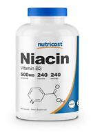 Nutricost Niacin (Vitamin B3) 500mg, 240 Caps - Gluten Free and Non-GMO