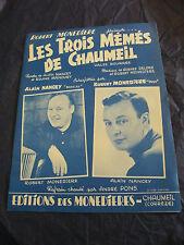 Partition Les trois mémés de Chaumeil Nancey Robert Monedière 1966 Music Sheet