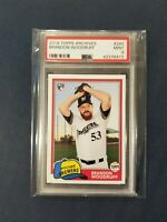 2018 Topps Archives #285 BRANDON WOODRUFF RC Brewers Rookie PSA 9 Mint *POP 1*