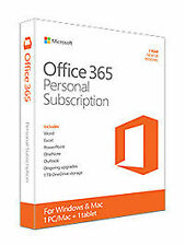 Microsoft Office 365 Personal (License & Software Assurance) (1 PC/Mac) for Mac