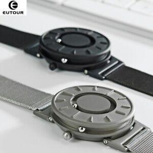 EUTOU Casual Unique Minimal Magnetic Braille Quartz Eone Homage Nylon Watch Gift