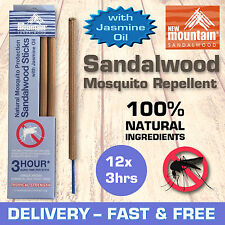 SPECIAL! New Mountain® 100% Natural Mosquito Repellent 'Jasmine Oil'  12x3hrs