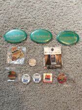 Miscellaneous Group Of Notre Dame Football Bowl Pins, Extra Buttons Included