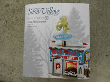 DEPARTMENT 56 SNOW VILLAGE Animated DEEP BLUE CAR WASH NIB