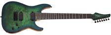 Schecter C-7 Pro 7-String Electric Guitar - Aqua Burst (SCH3638)