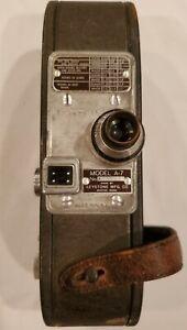 Keystone Model A-7 Vintage 16 Millimeter Windup Movie Camera - Works