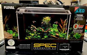 Fluval Spec  Aquarium 5 gallon  white  Desktop Glass Aquarium