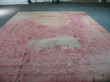 AUTHENTIC ANTIQUE FRENCH SAVONNERIE RUG FOM 1900'S IN NEED OF SERIOUS RESTORATIO