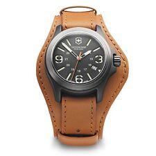 New Swiss Army Victorinox 241593 Original Oversized Leather Cuff Watch