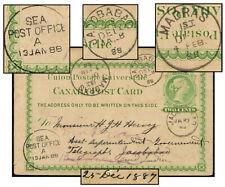 Canada 2¢ Upu Psc Dec 1887 To Jacobabad & Madras India