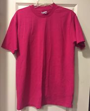 Vintage 80s 90s Hanes Fifty Fifty 50/50 Blank Plain Hot Pink Large NWOT