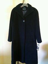 NWT JONES NEW YORK WOMEN'S ALPACA BLEND LONG COAT PETITE SZ 10P  BLACK $440