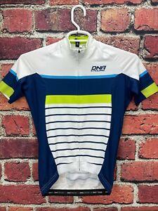 New! DNA Cycling Men's Small Jersey Short Sleeve Dirt & Asphalt White/Blue