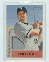 PAUL KONERKO 2002 Bowman Heritage Game-Worn Jersey Relic BH-PK White Sox Chicago