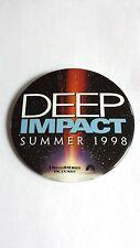 RARE VINTAGE 1998 DEEP IMPACT MOVIE PROMO BUTTON - MORGAN FREEMAN METEOR PIN