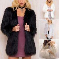 abrigo chaqueta invierno pelo sintetico Faux Fur Winter Fluffy Outerwear Coat