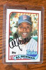 AL NEWMAN SIGNED AUTOGRAPHED 1989 TOPPS CARD # 503 MINNESOTA TWINS