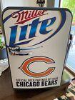 "NEW  Chicago Bears Miller Lite Portable Mini Fridge Mobicool 11"" W X 17"" H photo"