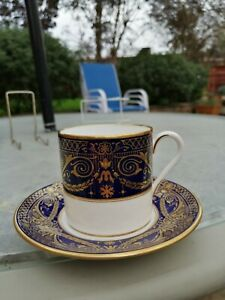 Royal Worcester HAREWOOD coffee can and saucer (s): 1sts and unused