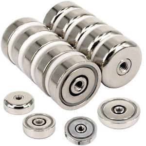 Neodym Magnete mit Loch Bohrung Topfmagnet Neodym-Magnet zum schrauben Scheibe
