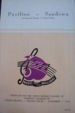 SANDOWN PAVILION, I.o.W. Music for the Millions, ROBERT EASTON 1948, H.Fielding