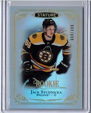 JACK STUDNICKA 19/20 Upper Deck UD Stature Rookie Refractor #104 SP #/399 Bruins
