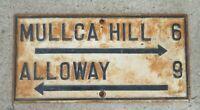 1890s Cast Iron Street Sign New Jersey Garden State Mullica Hill Alloway
