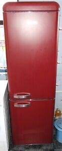 Red coloured Swan SR11020RN Fridge Freezer
