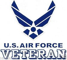 US AIR FORCE VETERAN BUMPER STICKER CLEAR BACKGROUND WINDOW STICKER