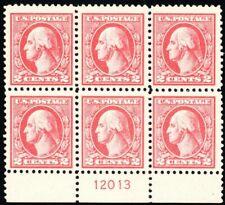 528, Mint NH VF 2¢ Plate Block of Six Stamps -- Stuart Katz