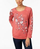 Style & Co Women's Long Sleeve Puff-Print Sweatshirt Size XL
