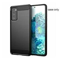 For Samsung Galaxy S20 FE Case Carbon Gel Cover & 1* Screen Glass Protector I6B8