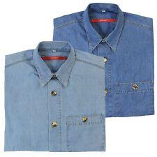 Signum Hemd Jeanshemd Shirt Herren Kurzarm Baumwolle Classic Cut