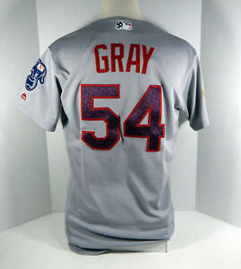 2016 Oakland Athletics A's Sonny Gray #54 Game Used Grey 4th of July Jersey