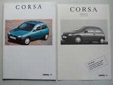 Prospekt Opel Corsa B mit GSI 16V, 10.1994, 56 Seiten + Preisliste 11.1994