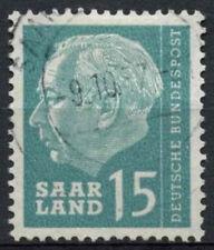 Saar 1957 SG#385, 15f President Heuss Definitive Used #A81315