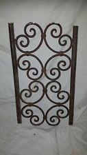 Ancienne décoration en bronze volute porte portail grille marquise extérieur