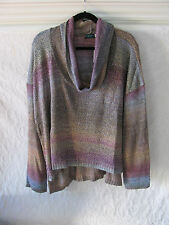 Ceny Cowl Neck High/Low Pullover Sweater-Ombre Multi-Color- Size 3X -NWT $65