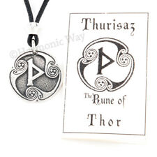 THURISAZ Rune Necklace of THOR amulet Magical Viking Norse Pendant Anglo-Saxon