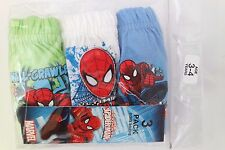Marvel Ultimate Spider-Man Boy's Underwear Briefs 3 Piece Set Ages 3-4 NWT