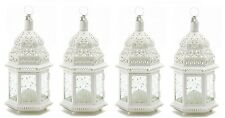 "White Moroccan Candle Lantern 12"" tall(Set of Four) Wedding Party Supplies 38465"