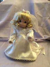"""PRECIOUS MOMENTS 12"""" DOLL Bride Blonde"""