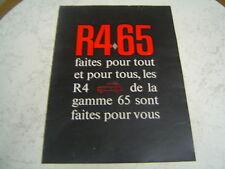 Catalogue publicitaire Renault 4L 4 parisienne export 1965 16 pages brochure